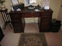 Complete set of home office furniture for sale.