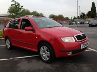 2004(04) SKODA FABIA ELEGANCE TDI FULL SERVICE HISTORY LOW RUNNING COST CHEAP TAX ) 2 KEYS LOW MIL