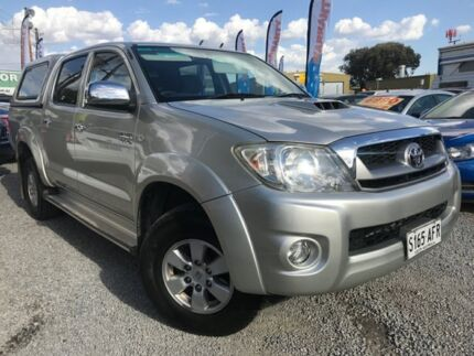 2009 Toyota Hilux KUN26R MY10 SR5 Silver 4 Speed Automatic Utility Para Hills West Salisbury Area Preview