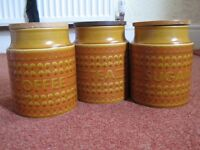 Hornsea pottery, Tea , Sugar & Coffee Storage Jar Set.
