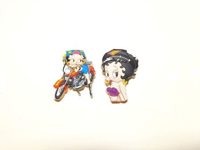 BETTY BOOP PINS LOT #41 TWO PIECE LASER CUT SET (RETIRED ITEM)