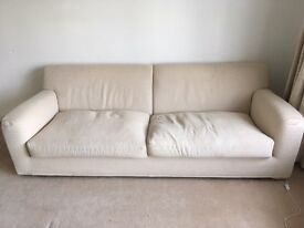 Lovely, comfortable Italian high quality Sofa for 3 - available on 29th of December
