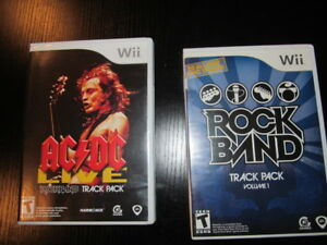 ACDC Live Rockband Track Pack and Rock Band Track Pack for Wii