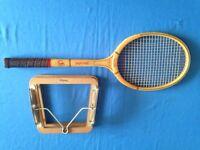 Wooden junior racquet and press