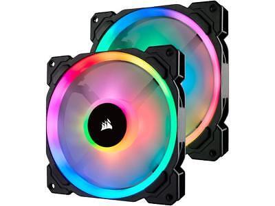 Corsair LL Series CO-9050074-WW LL140 RGB, 140mm Dual Light Loop RGB LED PWM Fan