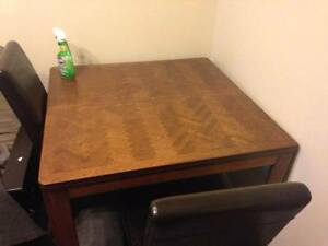 Hardwood Dining Table set with chairs!