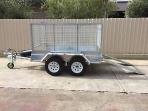 8X5 COMMERCIAL GALVANISED TANDEM TRAILER WITH CAGE BRAKES & RAMPS Pooraka Salisbury Area Preview