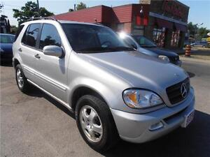 2002 Mercedes-Benz ML320 Silver Leather Sunroof  Only132,000km