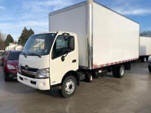 2016 HINO 195 DIESEL 20 feet box high cube truck van with gate