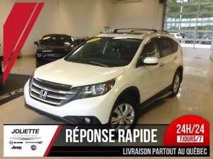 2014 Honda CR-V Touring, 4X4, CUIR, TOIT, GPS, A/C,
