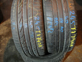 205 55 16 Bridgestone, Runflat, BMW x2 A Pair, 4.7mm (168 High Road, RM6 6LU) Part Worn