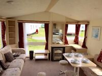 FAMILY STATIC CARAVAN FOR SALE ON NORTHUMBERLAND COAST WITH DIRECT ACCESS TO BEACH OPEN 12 MONTHS
