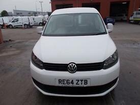 Volkswagen Caddy 1.6 TDI 102P TRENDLINE VAN EURO 5 DIESEL MANUAL WHITE (2014)