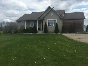 Beautiful Custom Built Bungalow in Gorgeous Country Setting