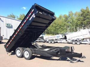 "NEW 2018 SURE-TRAC 96"" x 14' HD DECK-OVER DUMP TRAILER"
