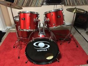 Beautiful Red Supra Drum Kit to sell. Like New!