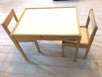 Ikea Kids Table & Chair Set