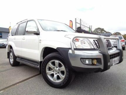 2009 Toyota Landcruiser Prado KDJ120R 07 Upgrade GXL (4x4) White 5 Speed Automatic Wagon Pooraka Salisbury Area Preview