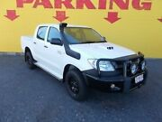 2011 Toyota Hilux KUN26R MY10 SR White 5 Speed Manual Dual Cab Winnellie Darwin City Preview