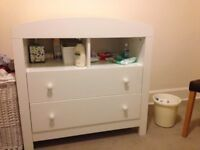 Mothercare changing table chest of drawers (white)