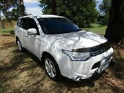 2013 Mitsubishi Outlander ZJ Aspire (4x4) White 6 Speed Automatic Wagon Invermay Launceston Area Preview