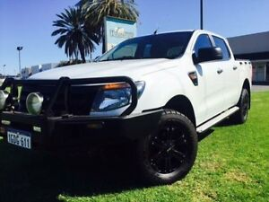 2014 Ford Ranger PX XL 3.2 (4x4) White 6 Speed Automatic Dual Cab Utility Maddington Gosnells Area Preview