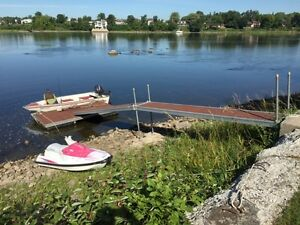 Fishing boat and dock for sale
