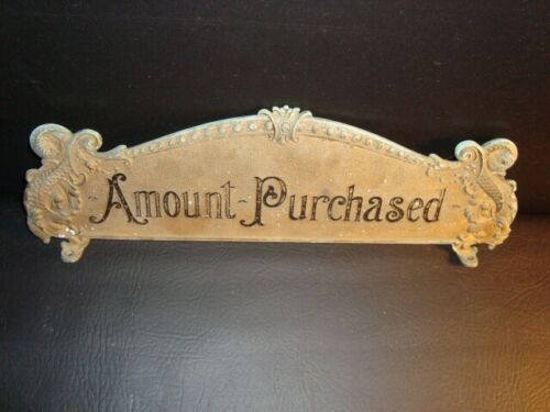 NCR Amount Purchased Top Sign