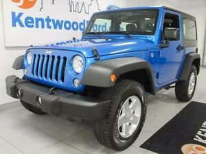 2016 Jeep Wrangler Sport, trail rated, sporty blue, kill it in t