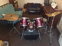 Pearl Export Drum Kit Red Wine Colour