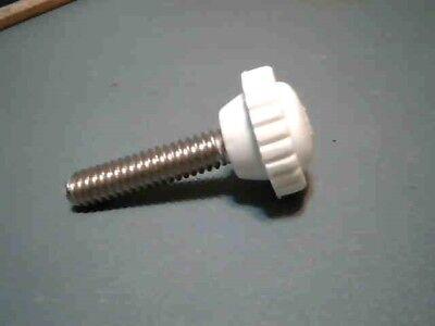 Knobbed Thumb Screws 14-20 X 1 Ss White 5 Pcs. Storm Shutter Hardware