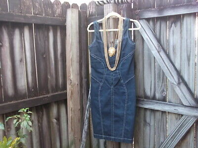 Versace VJC  Demin Sleeveless Curvy 30/44 Jean Dress