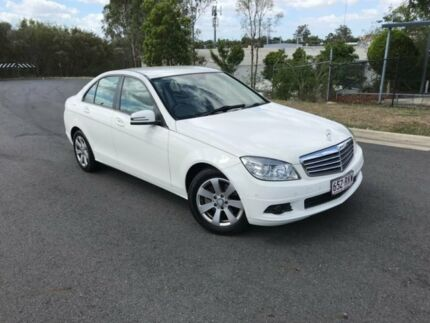 2009 Mercedes-Benz C200 Kompressor W204 Classic White 5 Speed Sports Automatic Sedan Darra Brisbane South West Preview