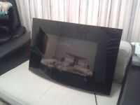 Electric Fire. Wall Mounted Heater/Fire. Like new.