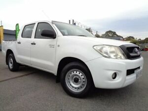 2010 Toyota Hilux GGN15R 09 Upgrade SR White 5 Speed Automatic Dual Cab Pick-up Pooraka Salisbury Area Preview