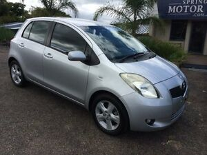 2008 Toyota Yaris NCP90R Rush Silver 5 Speed Manual Hatchback Springwood Blue Mountains Preview