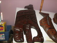 First nation carvings