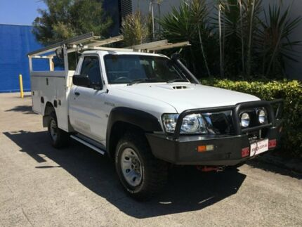 2012 Nissan Patrol MY11 Upgrade DX (4x4) White 5 Speed Manual Leaf Cab Chassis