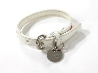 Auth GUCCI 282572 White Red Canvas &  Leather Bracelet