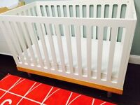 Classic Oeuf Crib with toddler conversion and Dresser set