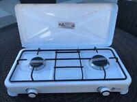 2 Burner Camping Cooker Gas Stove New Unused White Enamel