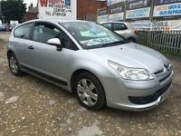 2007 Citroen C4 1.6 HDi 16v Cool 3dr 99K ONE LADY OWNER MOT READY TO GO BARGAIN