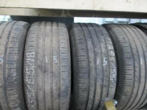 255/55R18 SET OF 4 MATCHING USED MICHELIN A/S TIRES