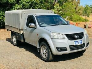 2013 Great Wall V200 K2 (4x4) Silver 6 Speed Manual Cab Chassis