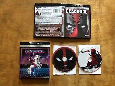Deadpool 4K Ultra HD/Blu ray*Walmart Exclusive Rare Slipcover*No Digital*2 Discs