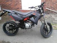 2009 rieju smx 50cc supermoto 2 stroke full bike or braking