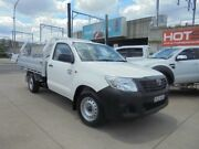 2014 Toyota Hilux TGN16R MY14 Workmate White 5 Speed Manual 2D Cab Chassis Granville Parramatta Area Preview