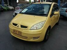2005 Mitsubishi Colt RG LS Yellow Constant Variable Hatchback Haberfield Ashfield Area Preview