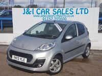 PEUGEOT 107 1.0 ALLURE 5d 68 BHP FULL SERVICE HISTORY (silver) 2013