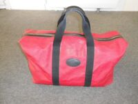 Mulberry Clipper/Holdall in Red Large